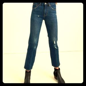 Women's Lucky Authentic Straight Crop Jeans, Sz 6